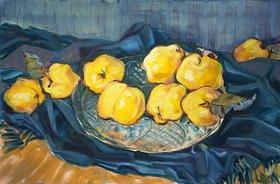 Tanja Leodolter: Quitten 08, Öl auf Leinwand 60 x 90 cm