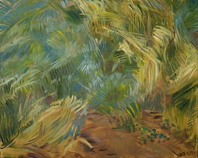 Tanja Leodolter: Gras, Öl auf Leinwand 80 x 100 cm