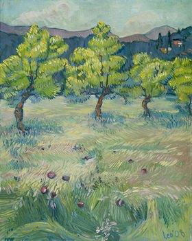 Tanja Leodolter: Steinhofgründe Wien, Öl auf Leinwand 80 x 100 cm