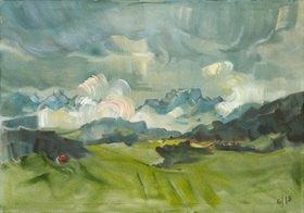 Tanja Leodolter: Allgäu III, Öl auf Leinwand 80 x 100 cm