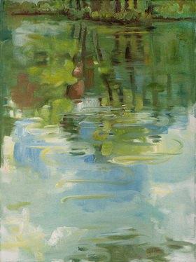 Tanja Leodolter: Wasser, Öl auf Leinwand 60 x 80 cm