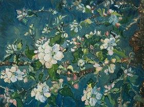 Tanja Leodolter: Apfelblüte 07, Öl auf leinwand 60 x 80 cm