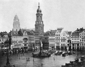 Gebrüder Haeckel: Königreich Sachsen: Dresden, Blick auf den Altmarkt mit der Kreuzkirche