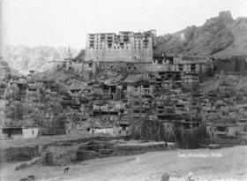 Gebrüder Haeckel: Ladakh: Ansicht der Stadt Leh