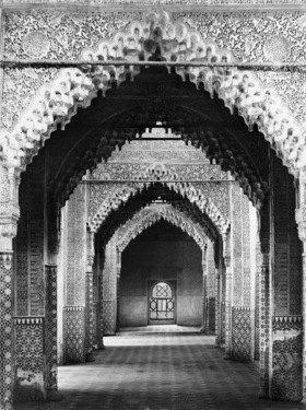 Gebrüder Haeckel: Andalusien, Granada: Burganlage Alhambra, Saal der Gerechtigkeit