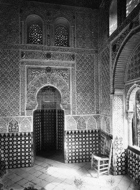 Gebrüder Haeckel: Andalusien, Granada: Innenansicht der Moschee in der Alhambra
