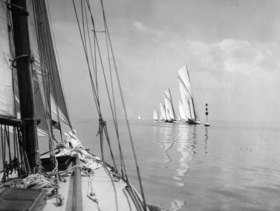 sailboats during a calm