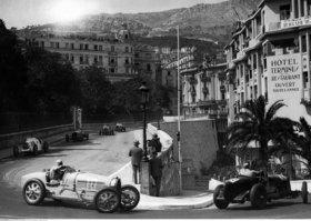Grand Prix de Monaco, links Rigatti, rechts Alfa Romeo