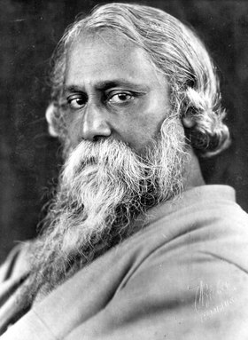 Tagore, Rabindranath, writer, philosopher, musician, painter, India, literature Nobel Prize