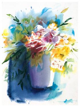 Werner Maier: Lichtbeschienene Blumen