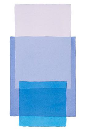 Werner Maier: Abstraktes Aquarell Blau in Blau