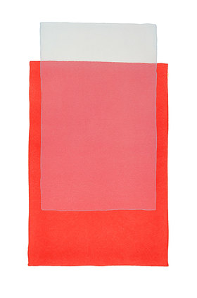 Werner Maier: Blatt II Rot und Grau