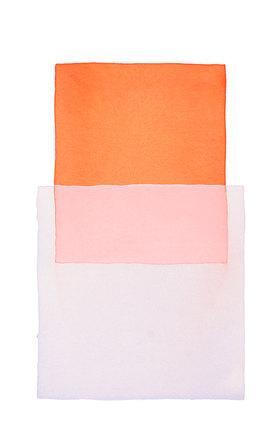 Werner Maier: Abstraktes Aquarell Orange Hellblau
