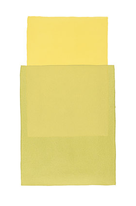 Werner Maier: Abstraktes Aquarell Gelb Grün