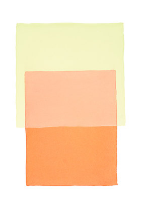 Werner Maier: Abstraktes Aquarell Orange Gelb