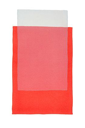 Werner Maier: Abstraktes Aquarell Rot und Grau - Original
