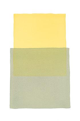 Werner Maier: Abstraktes Aquarell Gelb Grau - Original
