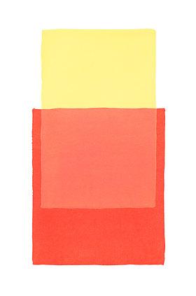 Werner Maier: Abstraktes Aquarell Gelb Rot - Original
