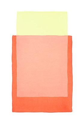 Werner Maier: Abstraktes Aquarell Gelb Orange II - Original