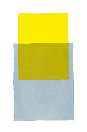 Werner Maier: Abstraktes Aquarell Gelb Blau - Original