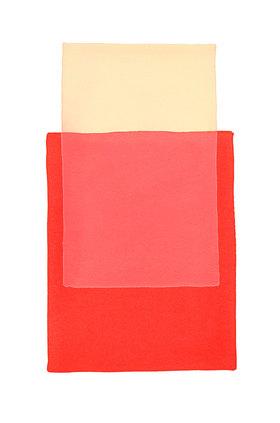 Werner Maier: Abstraktes Aquarell Beige Rot 2 - Original