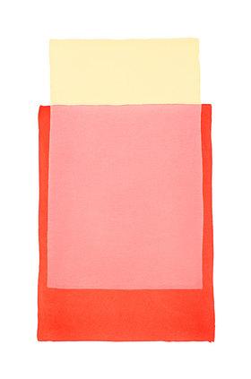 Werner Maier: Abstraktes Aquarell  Rot Gelb 2 - Original