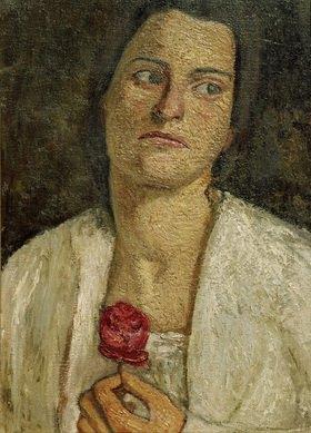 Paula Modersohn-Becker: Brustbild der Bildhauerin Clara Rilke-Westhoff