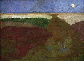 Paula Modersohn-Becker: Mond über Feldern