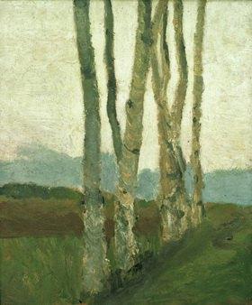 Paula Modersohn-Becker: Birch Trunks