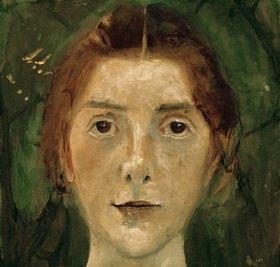 Paula Modersohn-Becker: Autoportrait, frontal