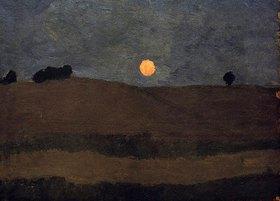Paula Modersohn-Becker: Mond über Landschaft