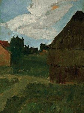 Paula Modersohn-Becker: Barn in the evening light