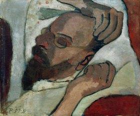 Paula Modersohn-Becker: Otto Modersohn sleeping