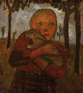 Paula Modersohn-Becker: Mädchen mit Kaninchen