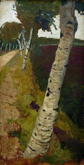 Paula Modersohn-Becker: Road with birch trees