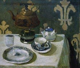 Paula Modersohn-Becker: Stillleben mit blauweißem Porzellan und Teekessel