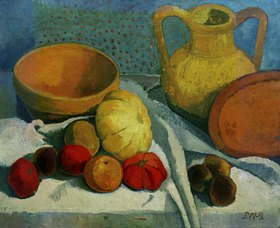 Paula Modersohn-Becker: Still life with yellow bowl and jar