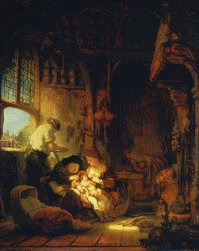 Rembrandt van Rijn: Die Familie des Zimmermanns Joseph (oder: Die hl.Familie)