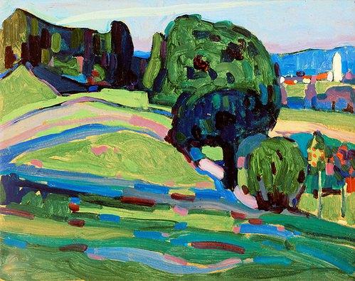 landschaft bei murnau von wassily kandinsky kunstdruck