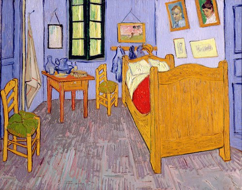 van gogh 39 s schlafzimmer in arles von vincent van gogh kunstdruck. Black Bedroom Furniture Sets. Home Design Ideas